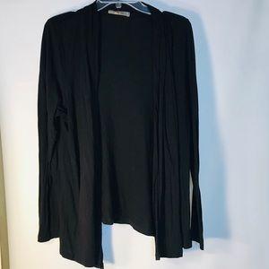 Women's Lush Black Cardigan-Sz 2XL